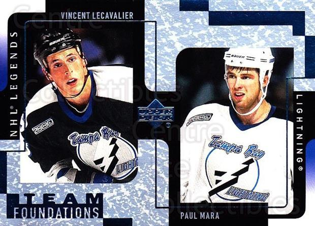 2000-01 Upper Deck Legends #119 Vincent Lecavalier, Paul Mara<br/>7 In Stock - $1.00 each - <a href=https://centericecollectibles.foxycart.com/cart?name=2000-01%20Upper%20Deck%20Legends%20%23119%20Vincent%20Lecaval...&quantity_max=7&price=$1.00&code=90580 class=foxycart> Buy it now! </a>