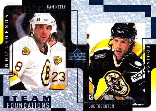 2000-01 Upper Deck Legends #13 Cam Neely, Joe Thornton<br/>4 In Stock - $1.00 each - <a href=https://centericecollectibles.foxycart.com/cart?name=2000-01%20Upper%20Deck%20Legends%20%2313%20Cam%20Neely,%20Joe%20...&quantity_max=4&price=$1.00&code=90592 class=foxycart> Buy it now! </a>