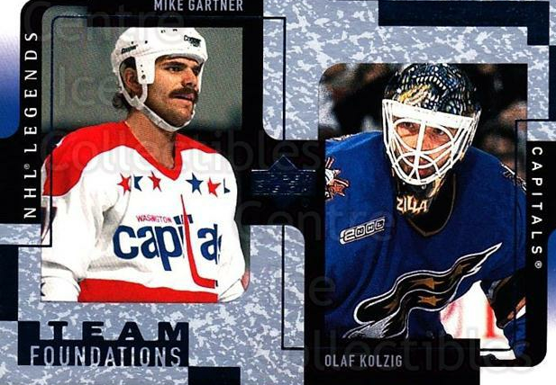 2000-01 Upper Deck Legends #132 Mike Gartner, Olaf Kolzig<br/>6 In Stock - $1.00 each - <a href=https://centericecollectibles.foxycart.com/cart?name=2000-01%20Upper%20Deck%20Legends%20%23132%20Mike%20Gartner,%20O...&quantity_max=6&price=$1.00&code=90595 class=foxycart> Buy it now! </a>