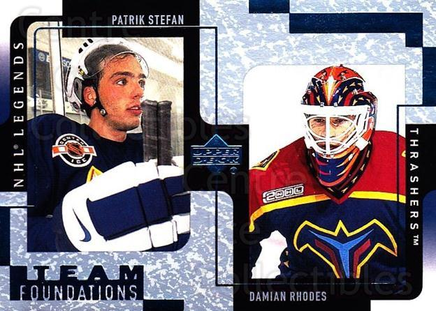 2000-01 Upper Deck Legends #5 Patrik Stefan, Damian Rhodes<br/>6 In Stock - $1.00 each - <a href=https://centericecollectibles.foxycart.com/cart?name=2000-01%20Upper%20Deck%20Legends%20%235%20Patrik%20Stefan,%20...&quantity_max=6&price=$1.00&code=90632 class=foxycart> Buy it now! </a>