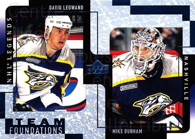 2000-01 Upper Deck Legends #75 David Legwand, Mike Dunham<br/>8 In Stock - $1.00 each - <a href=https://centericecollectibles.foxycart.com/cart?name=2000-01%20Upper%20Deck%20Legends%20%2375%20David%20Legwand,%20...&quantity_max=8&price=$1.00&code=90653 class=foxycart> Buy it now! </a>