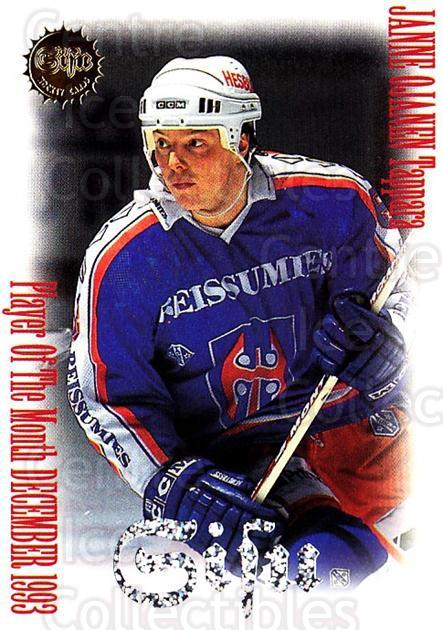 1994-95 Finnish SISU Most Valuable Player #4 Janne Ojanen<br/>1 In Stock - $5.00 each - <a href=https://centericecollectibles.foxycart.com/cart?name=1994-95%20Finnish%20SISU%20Most%20Valuable%20Player%20%234%20Janne%20Ojanen...&quantity_max=1&price=$5.00&code=908 class=foxycart> Buy it now! </a>