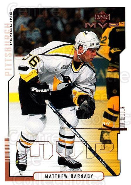 2000-01 Upper Deck MVP #146 Matthew Barnaby<br/>4 In Stock - $1.00 each - <a href=https://centericecollectibles.foxycart.com/cart?name=2000-01%20Upper%20Deck%20MVP%20%23146%20Matthew%20Barnaby...&quantity_max=4&price=$1.00&code=90932 class=foxycart> Buy it now! </a>