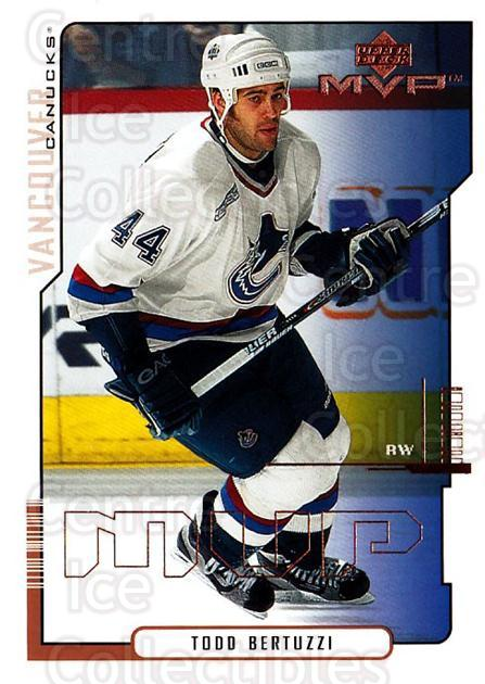 2000-01 Upper Deck MVP #176 Todd Bertuzzi<br/>6 In Stock - $1.00 each - <a href=https://centericecollectibles.foxycart.com/cart?name=2000-01%20Upper%20Deck%20MVP%20%23176%20Todd%20Bertuzzi...&quantity_max=6&price=$1.00&code=90964 class=foxycart> Buy it now! </a>