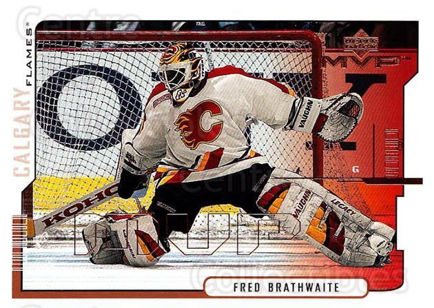2000-01 Upper Deck MVP #30 Fred Brathwaite<br/>6 In Stock - $1.00 each - <a href=https://centericecollectibles.foxycart.com/cart?name=2000-01%20Upper%20Deck%20MVP%20%2330%20Fred%20Brathwaite...&quantity_max=6&price=$1.00&code=91019 class=foxycart> Buy it now! </a>