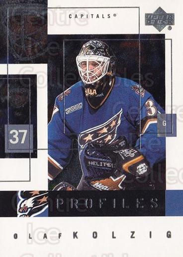 2000-01 Upper Deck Profiles #10 Olaf Kolzig<br/>1 In Stock - $3.00 each - <a href=https://centericecollectibles.foxycart.com/cart?name=2000-01%20Upper%20Deck%20Profiles%20%2310%20Olaf%20Kolzig...&quantity_max=1&price=$3.00&code=91039 class=foxycart> Buy it now! </a>