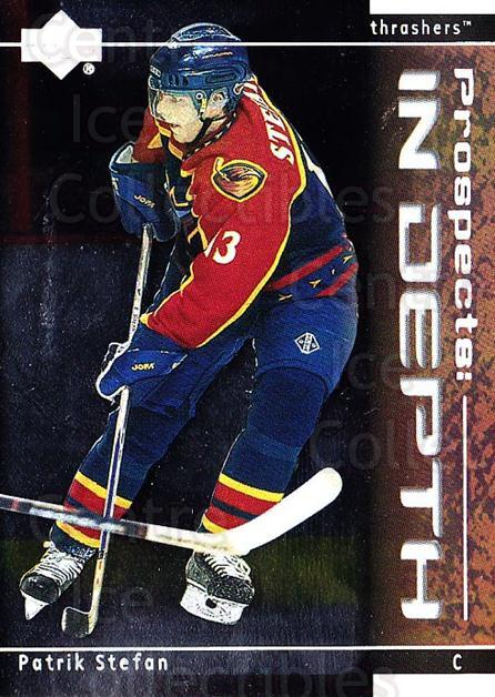 2000-01 Upper Deck Prospects In Depth #1 Patrik Stefan<br/>10 In Stock - $2.00 each - <a href=https://centericecollectibles.foxycart.com/cart?name=2000-01%20Upper%20Deck%20Prospects%20In%20Depth%20%231%20Patrik%20Stefan...&quantity_max=10&price=$2.00&code=91042 class=foxycart> Buy it now! </a>