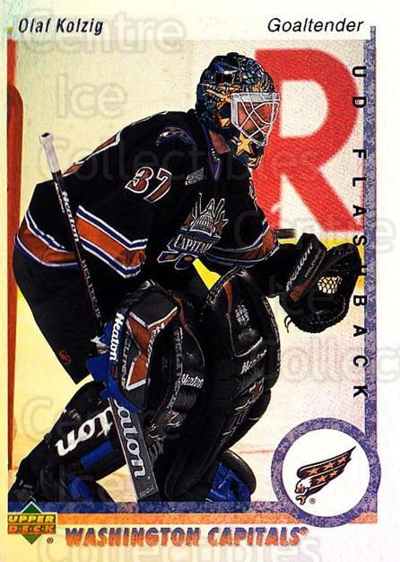 2000-01 Upper Deck Flashback #8 Olaf Kolzig<br/>5 In Stock - $2.00 each - <a href=https://centericecollectibles.foxycart.com/cart?name=2000-01%20Upper%20Deck%20Flashback%20%238%20Olaf%20Kolzig...&quantity_max=5&price=$2.00&code=91073 class=foxycart> Buy it now! </a>