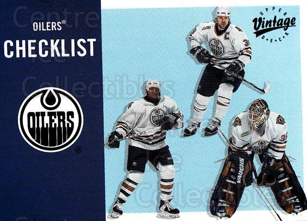 2000-01 UD Vintage #148 Doug Weight, Tommy Salo, Georges Laraque, Checklist<br/>4 In Stock - $1.00 each - <a href=https://centericecollectibles.foxycart.com/cart?name=2000-01%20UD%20Vintage%20%23148%20Doug%20Weight,%20To...&quantity_max=4&price=$1.00&code=91300 class=foxycart> Buy it now! </a>