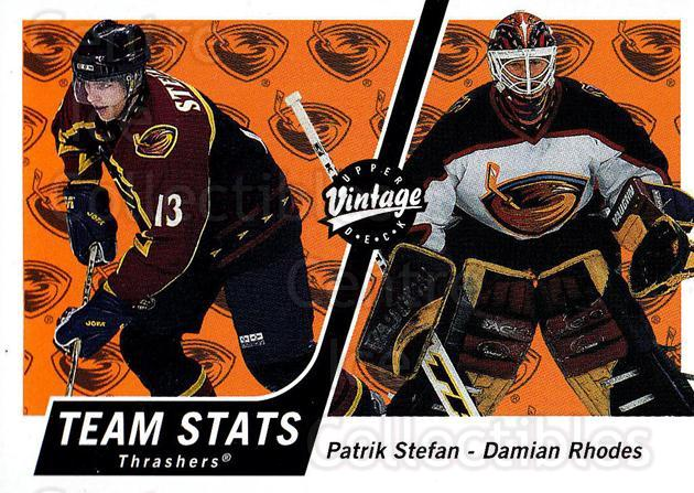 2000-01 UD Vintage #24 Patrik Stefan, Damian Rhodes<br/>10 In Stock - $1.00 each - <a href=https://centericecollectibles.foxycart.com/cart?name=2000-01%20UD%20Vintage%20%2324%20Patrik%20Stefan,%20...&quantity_max=10&price=$1.00&code=91393 class=foxycart> Buy it now! </a>