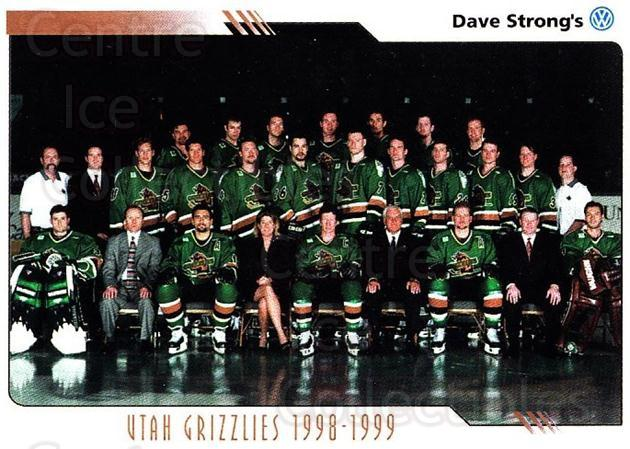 2000-01 Utah Grizzlies #14 Utah Grizzlies, Team Photo<br/>2 In Stock - $3.00 each - <a href=https://centericecollectibles.foxycart.com/cart?name=2000-01%20Utah%20Grizzlies%20%2314%20Utah%20Grizzlies,...&quantity_max=2&price=$3.00&code=91402 class=foxycart> Buy it now! </a>