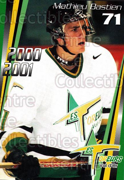 2000-01 Val dOr Foreurs #18 Mathieu Bastien<br/>11 In Stock - $3.00 each - <a href=https://centericecollectibles.foxycart.com/cart?name=2000-01%20Val%20dOr%20Foreurs%20%2318%20Mathieu%20Bastien...&price=$3.00&code=91435 class=foxycart> Buy it now! </a>