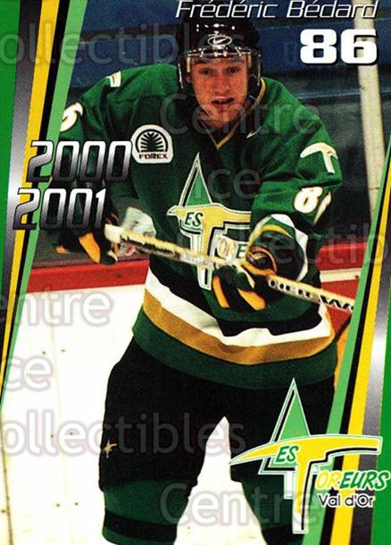 2000-01 Val dOr Foreurs #21 Frederic Bedard<br/>10 In Stock - $3.00 each - <a href=https://centericecollectibles.foxycart.com/cart?name=2000-01%20Val%20dOr%20Foreurs%20%2321%20Frederic%20Bedard...&quantity_max=10&price=$3.00&code=91439 class=foxycart> Buy it now! </a>