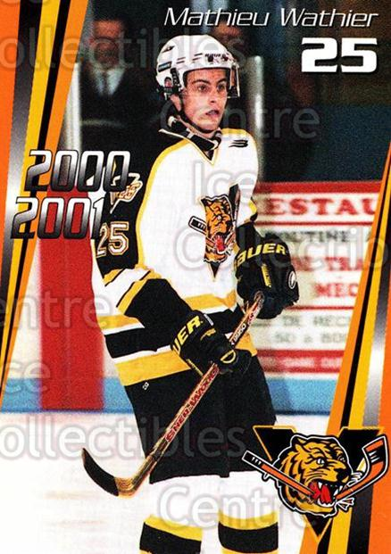 2000-01 Victoriaville Tigres #10 Mathieu Wathier<br/>5 In Stock - $3.00 each - <a href=https://centericecollectibles.foxycart.com/cart?name=2000-01%20Victoriaville%20Tigres%20%2310%20Mathieu%20Wathier...&quantity_max=5&price=$3.00&code=91671 class=foxycart> Buy it now! </a>