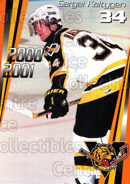 2000-01 Victoriaville Tigres #14 Sergei Kaltygen<br/>5 In Stock - $3.00 each - <a href=https://centericecollectibles.foxycart.com/cart?name=2000-01%20Victoriaville%20Tigres%20%2314%20Sergei%20Kaltygen...&quantity_max=5&price=$3.00&code=91674 class=foxycart> Buy it now! </a>