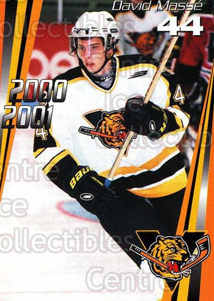 2000-01 Victoriaville Tigres #18 David Masse<br/>5 In Stock - $3.00 each - <a href=https://centericecollectibles.foxycart.com/cart?name=2000-01%20Victoriaville%20Tigres%20%2318%20David%20Masse...&quantity_max=5&price=$3.00&code=91678 class=foxycart> Buy it now! </a>