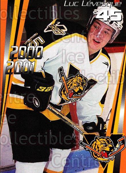 2000-01 Victoriaville Tigres #19 Luc Levesque<br/>5 In Stock - $3.00 each - <a href=https://centericecollectibles.foxycart.com/cart?name=2000-01%20Victoriaville%20Tigres%20%2319%20Luc%20Levesque...&quantity_max=5&price=$3.00&code=91679 class=foxycart> Buy it now! </a>