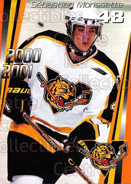 2000-01 Victoriaville Tigres #21 Sebastien Morissette<br/>5 In Stock - $3.00 each - <a href=https://centericecollectibles.foxycart.com/cart?name=2000-01%20Victoriaville%20Tigres%20%2321%20Sebastien%20Moris...&quantity_max=5&price=$3.00&code=91682 class=foxycart> Buy it now! </a>
