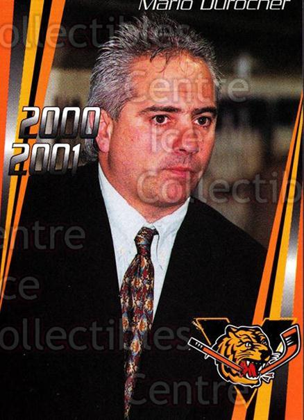2000-01 Victoriaville Tigres #24 Mario Durocher<br/>5 In Stock - $3.00 each - <a href=https://centericecollectibles.foxycart.com/cart?name=2000-01%20Victoriaville%20Tigres%20%2324%20Mario%20Durocher...&quantity_max=5&price=$3.00&code=91685 class=foxycart> Buy it now! </a>