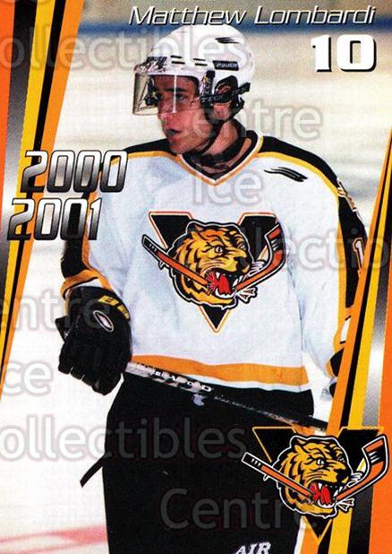 2000-01 Victoriaville Tigres #3 Matthew Lombardi<br/>2 In Stock - $3.00 each - <a href=https://centericecollectibles.foxycart.com/cart?name=2000-01%20Victoriaville%20Tigres%20%233%20Matthew%20Lombard...&quantity_max=2&price=$3.00&code=91686 class=foxycart> Buy it now! </a>