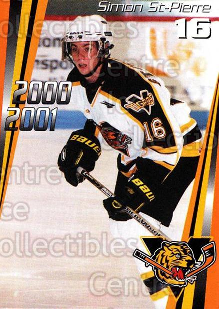 2000-01 Victoriaville Tigres #6 Simon St.Pierre<br/>5 In Stock - $3.00 each - <a href=https://centericecollectibles.foxycart.com/cart?name=2000-01%20Victoriaville%20Tigres%20%236%20Simon%20St.Pierre...&quantity_max=5&price=$3.00&code=91689 class=foxycart> Buy it now! </a>