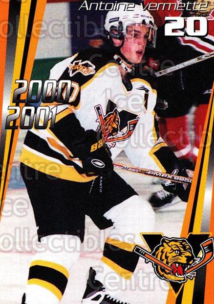 2000-01 Victoriaville Tigres #8 Antoine Vermette<br/>3 In Stock - $3.00 each - <a href=https://centericecollectibles.foxycart.com/cart?name=2000-01%20Victoriaville%20Tigres%20%238%20Antoine%20Vermett...&quantity_max=3&price=$3.00&code=91691 class=foxycart> Buy it now! </a>