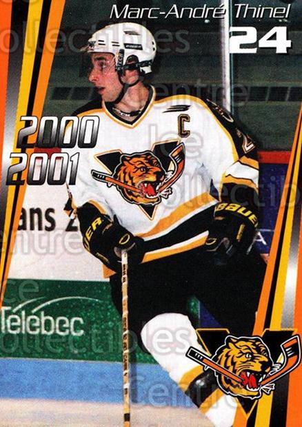 2000-01 Victoriaville Tigres #9 Marc-Andre Thinel<br/>1 In Stock - $3.00 each - <a href=https://centericecollectibles.foxycart.com/cart?name=2000-01%20Victoriaville%20Tigres%20%239%20Marc-Andre%20Thin...&quantity_max=1&price=$3.00&code=91692 class=foxycart> Buy it now! </a>