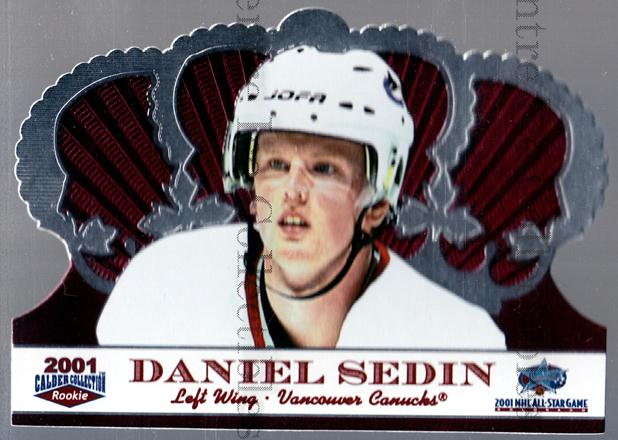 2001 Crown Royale Calder AS Silver #7 Daniel Sedin<br/>16 In Stock - $3.00 each - <a href=https://centericecollectibles.foxycart.com/cart?name=2001%20Crown%20Royale%20Calder%20AS%20Silver%20%237%20Daniel%20Sedin...&price=$3.00&code=91699 class=foxycart> Buy it now! </a>