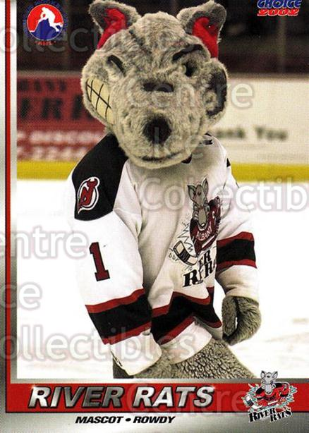 2001-02 Albany River Rats #28 Mascot<br/>12 In Stock - $3.00 each - <a href=https://centericecollectibles.foxycart.com/cart?name=2001-02%20Albany%20River%20Rats%20%2328%20Mascot...&quantity_max=12&price=$3.00&code=91775 class=foxycart> Buy it now! </a>
