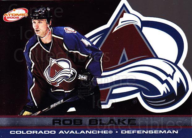 2001-02 Atomic #22 Rob Blake<br/>9 In Stock - $1.00 each - <a href=https://centericecollectibles.foxycart.com/cart?name=2001-02%20Atomic%20%2322%20Rob%20Blake...&quantity_max=9&price=$1.00&code=91798 class=foxycart> Buy it now! </a>