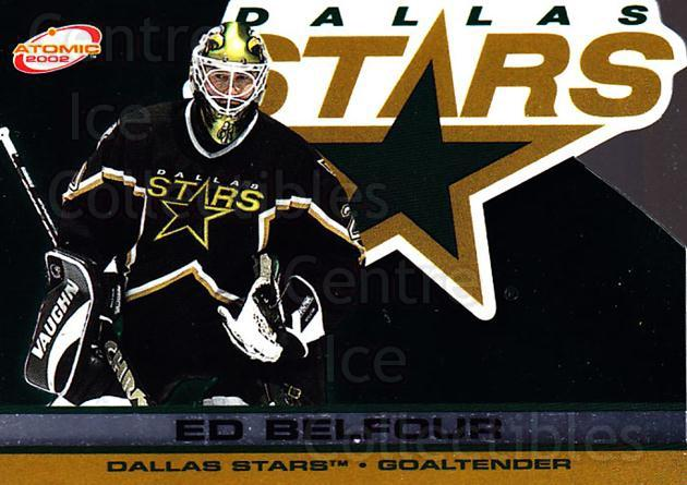2001-02 Atomic #31 Ed Belfour<br/>10 In Stock - $1.00 each - <a href=https://centericecollectibles.foxycart.com/cart?name=2001-02%20Atomic%20%2331%20Ed%20Belfour...&price=$1.00&code=91805 class=foxycart> Buy it now! </a>