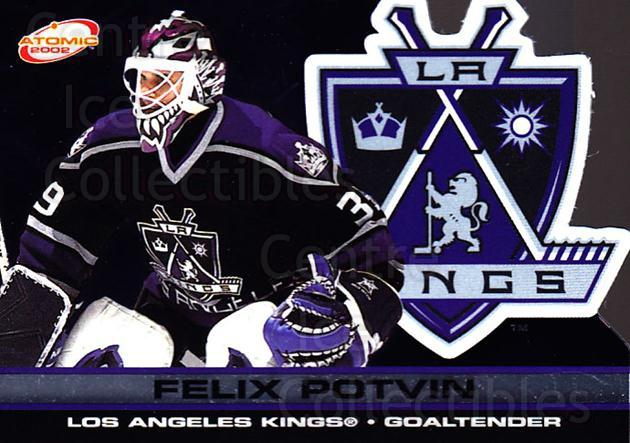 2001-02 Atomic #48 Felix Potvin<br/>6 In Stock - $1.00 each - <a href=https://centericecollectibles.foxycart.com/cart?name=2001-02%20Atomic%20%2348%20Felix%20Potvin...&quantity_max=6&price=$1.00&code=91819 class=foxycart> Buy it now! </a>