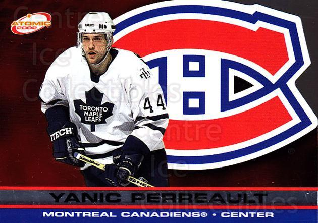 2001-02 Atomic #52 Yanic Perreault<br/>14 In Stock - $1.00 each - <a href=https://centericecollectibles.foxycart.com/cart?name=2001-02%20Atomic%20%2352%20Yanic%20Perreault...&quantity_max=14&price=$1.00&code=91824 class=foxycart> Buy it now! </a>