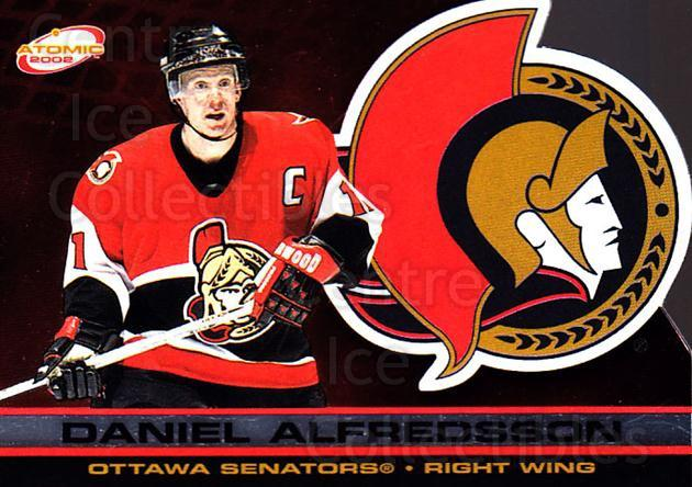 2001-02 Atomic #67 Daniel Alfredsson<br/>8 In Stock - $1.00 each - <a href=https://centericecollectibles.foxycart.com/cart?name=2001-02%20Atomic%20%2367%20Daniel%20Alfredss...&quantity_max=8&price=$1.00&code=91839 class=foxycart> Buy it now! </a>
