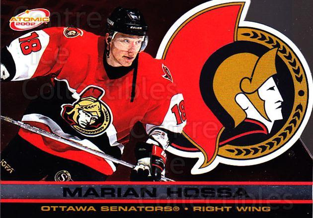 2001-02 Atomic #69 Marian Hossa<br/>8 In Stock - $1.00 each - <a href=https://centericecollectibles.foxycart.com/cart?name=2001-02%20Atomic%20%2369%20Marian%20Hossa...&quantity_max=8&price=$1.00&code=91841 class=foxycart> Buy it now! </a>