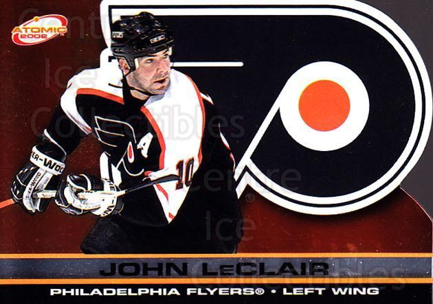 2001-02 Atomic #72 John LeClair<br/>11 In Stock - $1.00 each - <a href=https://centericecollectibles.foxycart.com/cart?name=2001-02%20Atomic%20%2372%20John%20LeClair...&quantity_max=11&price=$1.00&code=91845 class=foxycart> Buy it now! </a>