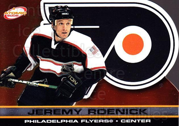 2001-02 Atomic #74 Jeremy Roenick<br/>8 In Stock - $1.00 each - <a href=https://centericecollectibles.foxycart.com/cart?name=2001-02%20Atomic%20%2374%20Jeremy%20Roenick...&quantity_max=8&price=$1.00&code=91847 class=foxycart> Buy it now! </a>