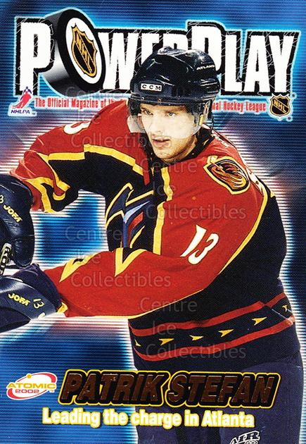2001-02 Atomic Power Play #2 Patrik Stefan<br/>13 In Stock - $1.00 each - <a href=https://centericecollectibles.foxycart.com/cart?name=2001-02%20Atomic%20Power%20Play%20%232%20Patrik%20Stefan...&quantity_max=13&price=$1.00&code=91890 class=foxycart> Buy it now! </a>