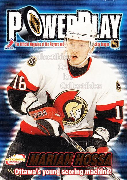 2001-02 Atomic Power Play #25 Marian Hossa<br/>13 In Stock - $1.00 each - <a href=https://centericecollectibles.foxycart.com/cart?name=2001-02%20Atomic%20Power%20Play%20%2325%20Marian%20Hossa...&quantity_max=13&price=$1.00&code=91896 class=foxycart> Buy it now! </a>