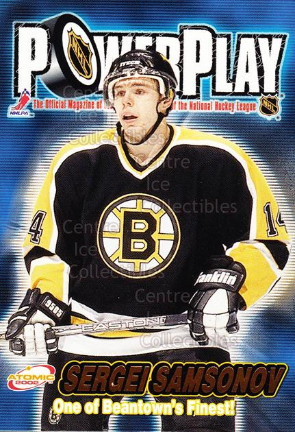 2001-02 Atomic Power Play #3 Sergei Samsonov<br/>13 In Stock - $1.00 each - <a href=https://centericecollectibles.foxycart.com/cart?name=2001-02%20Atomic%20Power%20Play%20%233%20Sergei%20Samsonov...&quantity_max=13&price=$1.00&code=91900 class=foxycart> Buy it now! </a>