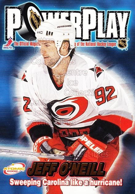 2001-02 Atomic Power Play #6 Jeff O'Neill<br/>12 In Stock - $1.00 each - <a href=https://centericecollectibles.foxycart.com/cart?name=2001-02%20Atomic%20Power%20Play%20%236%20Jeff%20O'Neill...&quantity_max=12&price=$1.00&code=91907 class=foxycart> Buy it now! </a>