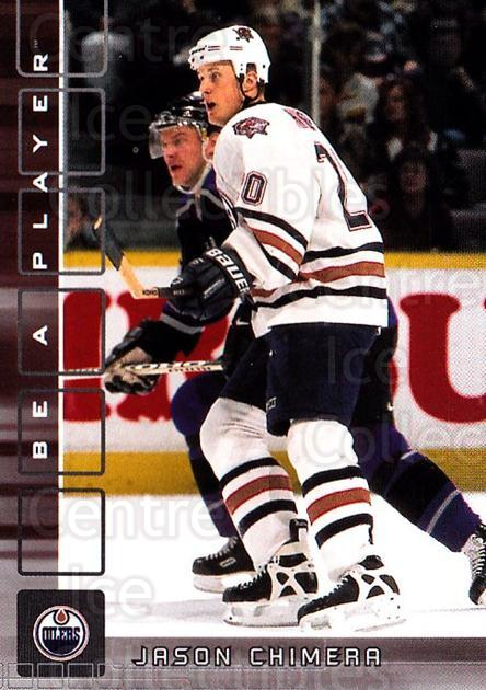 2001-02 BAP Memorabilia #218 Jason Chimera<br/>4 In Stock - $1.00 each - <a href=https://centericecollectibles.foxycart.com/cart?name=2001-02%20BAP%20Memorabilia%20%23218%20Jason%20Chimera...&quantity_max=4&price=$1.00&code=92359 class=foxycart> Buy it now! </a>
