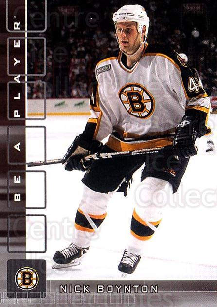 2001-02 BAP Memorabilia #223 Nick Boynton<br/>6 In Stock - $1.00 each - <a href=https://centericecollectibles.foxycart.com/cart?name=2001-02%20BAP%20Memorabilia%20%23223%20Nick%20Boynton...&quantity_max=6&price=$1.00&code=92365 class=foxycart> Buy it now! </a>