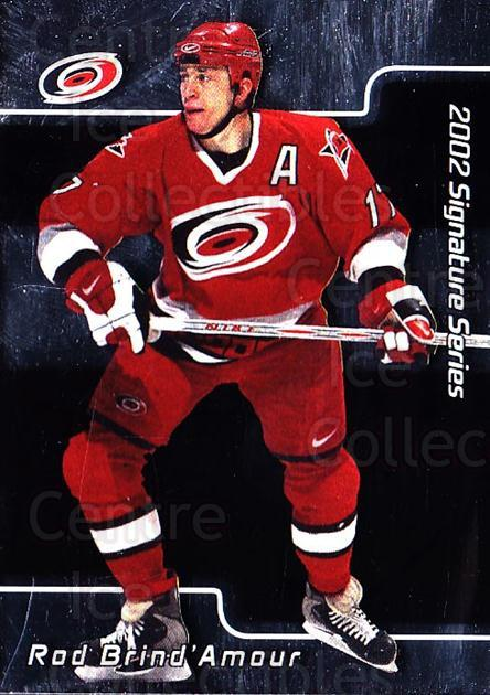 2001-02 BAP Signature Series #152 Rod Brind'Amour<br/>5 In Stock - $1.00 each - <a href=https://centericecollectibles.foxycart.com/cart?name=2001-02%20BAP%20Signature%20Series%20%23152%20Rod%20Brind'Amour...&quantity_max=5&price=$1.00&code=92449 class=foxycart> Buy it now! </a>