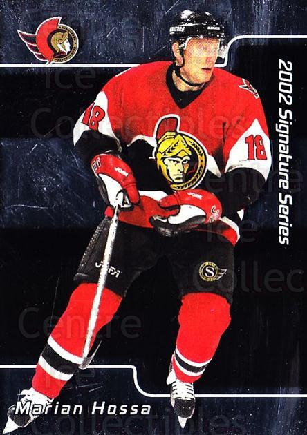 2001-02 BAP Signature Series #20 Marian Hossa<br/>7 In Stock - $1.00 each - <a href=https://centericecollectibles.foxycart.com/cart?name=2001-02%20BAP%20Signature%20Series%20%2320%20Marian%20Hossa...&quantity_max=7&price=$1.00&code=92496 class=foxycart> Buy it now! </a>
