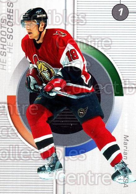 2001-02 BAP Update Points #6 Marian Hossa<br/>6 In Stock - $2.00 each - <a href=https://centericecollectibles.foxycart.com/cart?name=2001-02%20BAP%20Update%20Points%20%236%20Marian%20Hossa...&quantity_max=6&price=$2.00&code=92543 class=foxycart> Buy it now! </a>