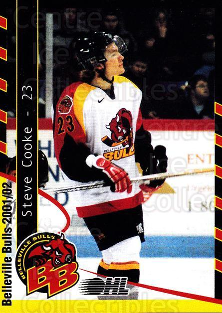 2001-02 Belleville Bulls Update #2 Steve Cooke<br/>3 In Stock - $3.00 each - <a href=https://centericecollectibles.foxycart.com/cart?name=2001-02%20Belleville%20Bulls%20Update%20%232%20Steve%20Cooke...&price=$3.00&code=92545 class=foxycart> Buy it now! </a>
