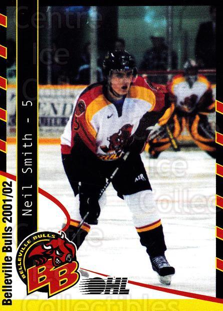 2001-02 Belleville Bulls Update #4 Neil Smith<br/>3 In Stock - $3.00 each - <a href=https://centericecollectibles.foxycart.com/cart?name=2001-02%20Belleville%20Bulls%20Update%20%234%20Neil%20Smith...&price=$3.00&code=92547 class=foxycart> Buy it now! </a>