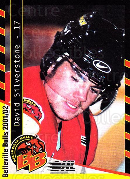 2001-02 Belleville Bulls #21 David Silverstone<br/>2 In Stock - $3.00 each - <a href=https://centericecollectibles.foxycart.com/cart?name=2001-02%20Belleville%20Bulls%20%2321%20David%20Silversto...&price=$3.00&code=92561 class=foxycart> Buy it now! </a>