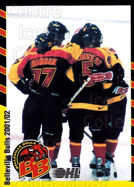 2001-02 Belleville Bulls #26 Celebration<br/>1 In Stock - $3.00 each - <a href=https://centericecollectibles.foxycart.com/cart?name=2001-02%20Belleville%20Bulls%20%2326%20Celebration...&price=$3.00&code=92565 class=foxycart> Buy it now! </a>